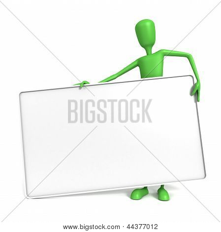 3D Man - Large Heavy Sign
