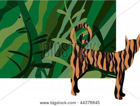 Jungle with tiger
