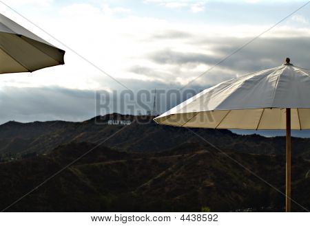 Landscape Shot Of Hollywood Sign