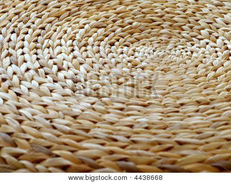 Close Up Shot Of Braided Circular Stool