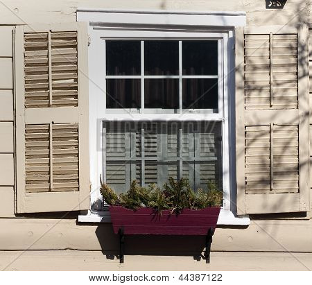 Aging colonial Window
