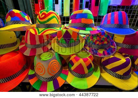 Colourfull And Bright Hats For Nightparty