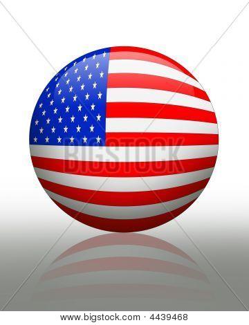 American Flag Orb Icon