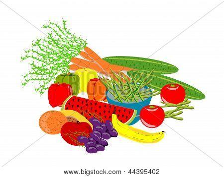 fruta y vegtables