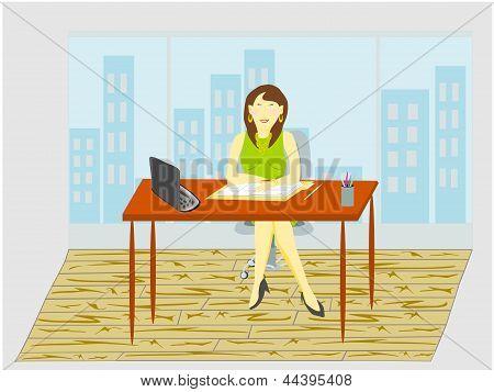 lady interviewer