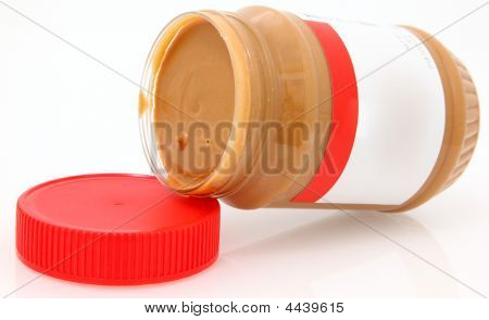Creamy Peanut Butter With Blank Label