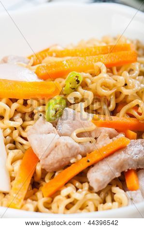 pancit canton for merienda or snacks popularize in the Philippines
