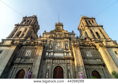Mexico City Cathedral Facade