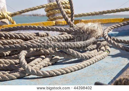 Boating Ropes At Bet Dwarka