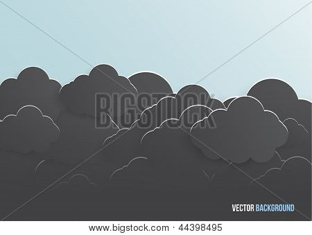 Vector abstract background bubble. Paper
