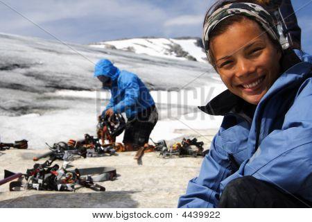 Preparation For Hiking On Glacier