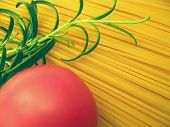 Spaghetti Tomato And Rosemary  Detail poster