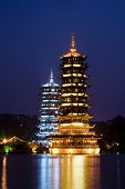 Pagodas in Guilin, China
