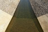 pic of upstream  - Water diversion canal upstream the Alvito reservoir near Oriola village part of the Alqueva Irrigation Plan Alentejo Portugal - JPG