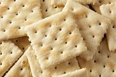 pic of baking soda  - Organic Whole Wheat Soda Crackers ready to eat - JPG