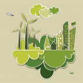 Постер, плакат: Перейти зеленый концепция город