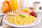 picture of scrambled eggs  - breakfast - JPG