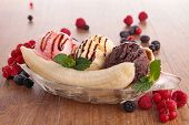 image of banana split  - banana split - JPG