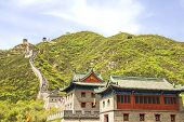 stock photo of qin dynasty  - The famous Great Wall in Juyongguan - JPG