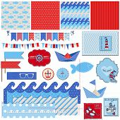 image of brig  - Scrapbook Design Elements  - JPG