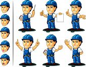 image of designated driver  - A vector set of a male repairman in several poses - JPG