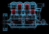 stock photo of internal combustion  - Internal combustion engine  - JPG