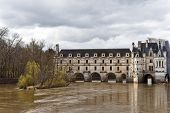 foto of poitiers  - View of the arches and east facade of the Pont de Diane over the River Cher - JPG