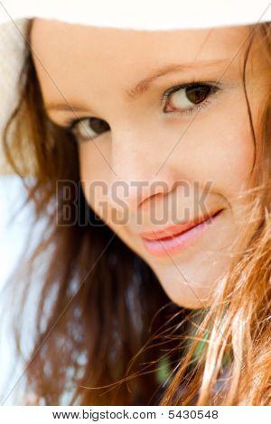 Sonriendo retrato adolescente