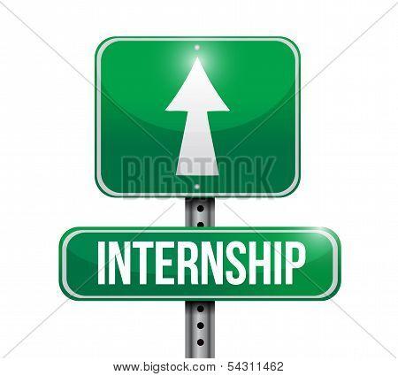 Internship Road Sign Illustration Design