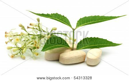 Pills With Medicinal Neem