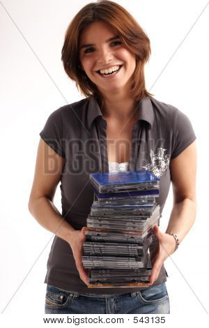 Pile Of Cd/dvd Cases