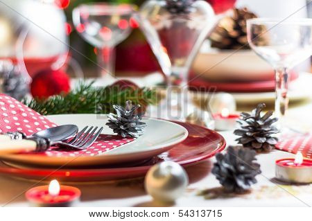 Christmas Xmas Eve Table Setting Supper