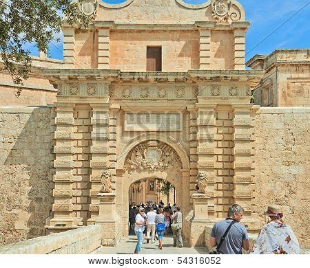 Malta. Tourists