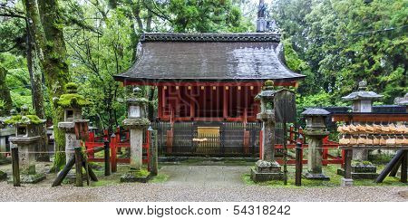 Traditional Shinto Architecture At Fushimi Inari Shrine In Kyoto
