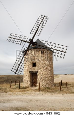 Windmills At Belmonte, Cuenca, Spain