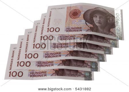 One Hundred Norwegian Crones Paper Bank Notes