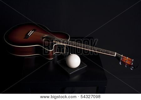 Guitar musical style decoration