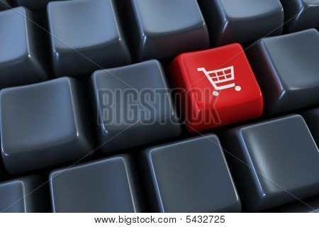 Keyboard With basket  Button