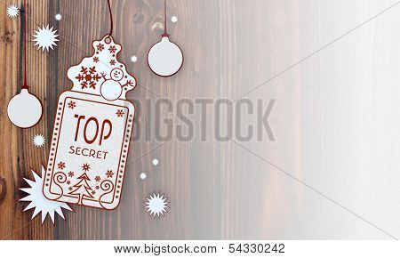Xmas Coupon With Top Secret Label