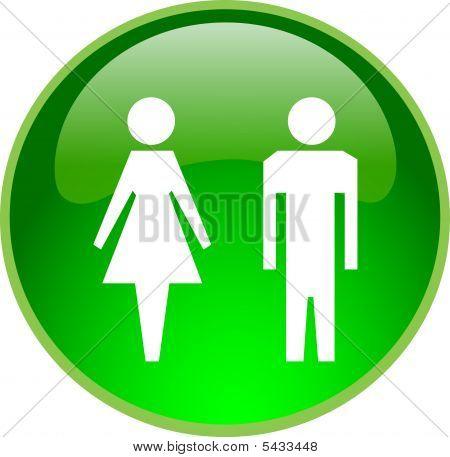 Botón de gente verde