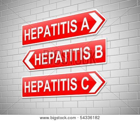 Hepatitis Concept.