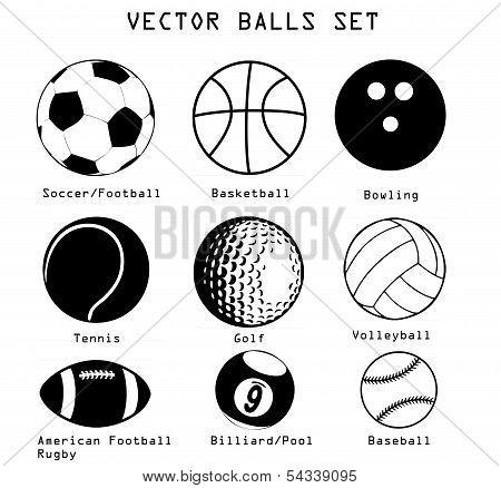 Pelotas deportivas ilustración conjunto