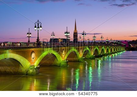 Bordeaux At A Summer Night