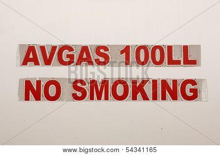 Avgas Sign