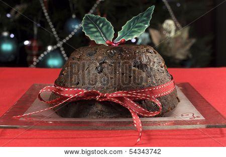 Classic Old English Christmas Plum Pudding Dessert