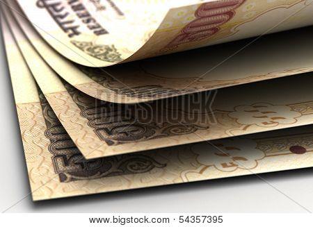 Indian Rupee Closeup