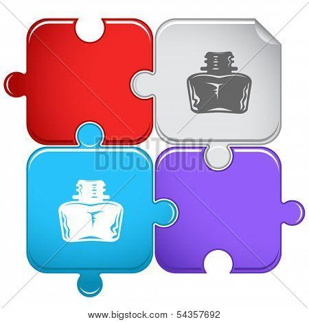 Inkstand. Raster puzzle.