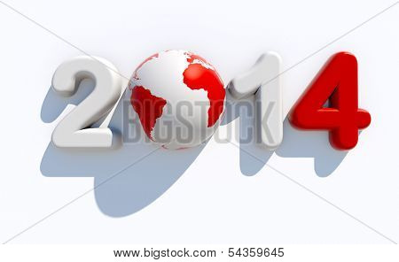 New year 2014 logo