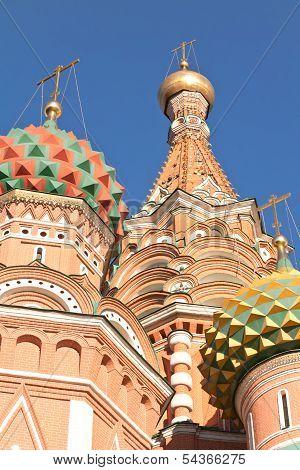 Domes Of Saint Vasiliy Beatific