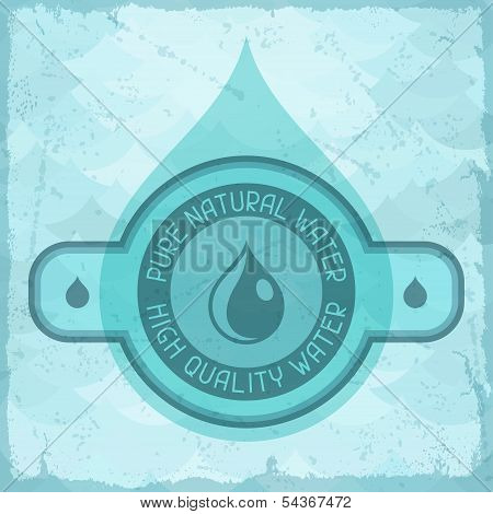 Pure natural water background in retro style.